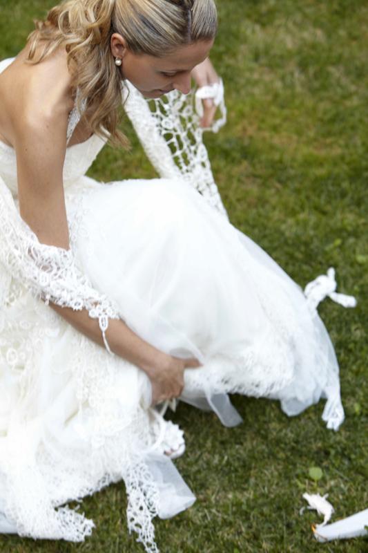 Fotografia de na novia elegante