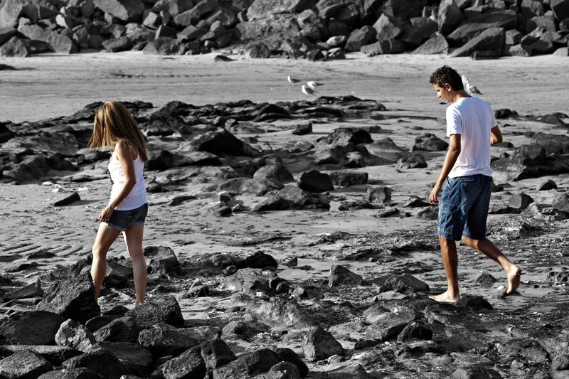Fotografiar parejas en la playa